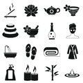Spa Treatments Icons Set, Simple Style Royalty Free Stock Photography - 80570287