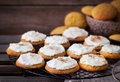 Homemade Pumpkin Spice Cake Cookies With Glaze And Cinnamon Royalty Free Stock Photography - 80572647