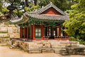 Traditional Wooden Pavilion In Secret Garden Of Changdeokgung Palace In Seoul, South Korea Royalty Free Stock Photos - 80586958