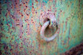 Corroded Painted Steel Background With Eye Bolt Stock Images - 80588054