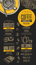 Menu Coffee Restaurant, Beverage Template Placemat. Royalty Free Stock Images - 80594309