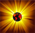 Planet Earth Light Background Stock Photography - 8060952