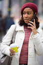 Woman On Her Cell Phone Royalty Free Stock Image - 8064736