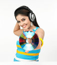 Asian Woman With Headphones Stock Photography - 8067042