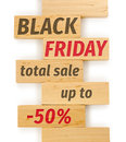 Black Friday Concept Sign, Text On Wooden Bricks, Sale Promotion Stock Photo - 80609700