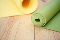 Two Twisted Mat For Fitness Royalty Free Stock Images - 80610509