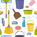 Cleaning Tools Sweamless Pattern . Royalty Free Stock Images - 80631729