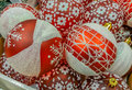 Hand Made Decorations At Market For Christmas Month Royalty Free Stock Photos - 80642818