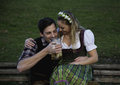 Bavarian Couple With Beer Stock Photo - 80673080