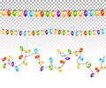 Christmas Light Bulbs Garlands On Transparent Background Vector Stock Photos - 80676933