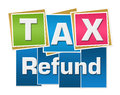 Tax Refund Colorful Stripes Squares Royalty Free Stock Photos - 80686458