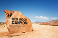 Red Rock Canyon Sign Stock Photo - 80687910