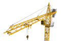 Rendering Of Yellow Construction Crane Isolated On White Background. Stock Photo - 80695530