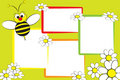 Kid Scrapbook - Bee And Daisies Royalty Free Stock Images - 8074339