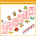 Match Creatures With Their Homes Royalty Free Stock Images - 80711719