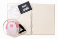 Ultrasound Picture On Baby Diary-blank Notebook And Fetal Heart Stock Images - 80721904
