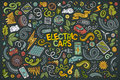 Colorful Vector Doodle Cartoon Set Of Electric Cars Objects Royalty Free Stock Images - 80730109