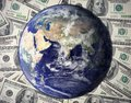 One Hundred Dollars Bill With Earth World Economic Recovery Royalty Free Stock Image - 80733496