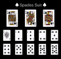 Playing Cards Spade Suit Royalty Free Stock Images - 80734639