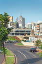 Landscape Of The City Of Campo Grande. City With Some Buildings Between Trees, Car Traffic And Urban Art. Royalty Free Stock Photo - 80737175
