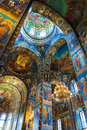 Church Of The Savior On Spilled Blood. Mosaic On The Arches Of Royalty Free Stock Images - 80741759