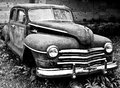 Grunge And Hight Rusty Old Car. Black-white Photo Stock Photography - 80752062