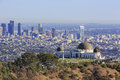 Los Angeles Afternoon Cityscape With Griffith Observatory Stock Image - 80770591