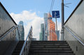 Underpass And Business Center Moscow-City Stock Photos - 80772393