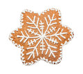 Gingerbread Cookie Made In The Shape Of A Christmas Star Royalty Free Stock Photos - 80781208