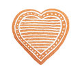 Handmade Heart Shaped Gingerbread Cookie Royalty Free Stock Photos - 80781878