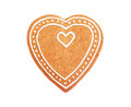 Handmade Heart Shaped Gingerbread Cookie Royalty Free Stock Photography - 80782067