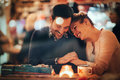 Romantic Couple Dating In Pub Royalty Free Stock Photography - 80796497