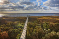 Boardwalk Pamlico Sound Autumn Salvo North Carolina Outer Banks Stock Photography - 80804682
