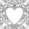 Decorative Love Frame With Hearts Stock Photography - 80812232
