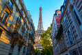 Eiffel Tower At Sunset In Paris Stock Photography - 80819742