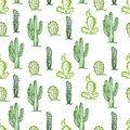 Cactus Seamless Color Background Stock Photo - 80828210
