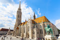 Budapest. Matthias Church And The Monument To St. Istvan Royalty Free Stock Photos - 80831908