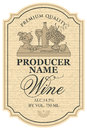 Wine Label With Still Life Royalty Free Stock Photos - 80833608
