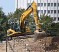 Excavator At The Construction Site Stock Image - 80842191