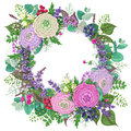 Romantic Floral Greeting Card Royalty Free Stock Images - 80852179