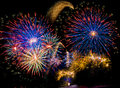 Colorful Fireworks In The Night Sky Stock Image - 80865981