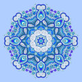 Blue Beautiful Vintage Circular Pattern Of Arabesques Royalty Free Stock Images - 80866369