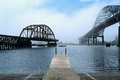 Bridges And Dock In The Fog In Duluth, Minnesota Stock Images - 80867574