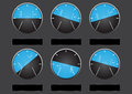 Set Of Airplane Altitude Display Stock Images - 80874634