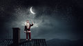 Santa Claus Is Already Here . Mixed Media Stock Image - 80878171