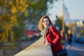 Young Girl Walking In Paris On A Sunny Fall Day Royalty Free Stock Images - 80880309