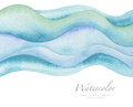 Abstract Wave Watercolor Painted Background. Paper Texture. Stock Image - 80888631