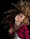 Teen Beauty Shaking Hair Stock Images - 8097164