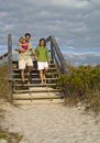 Family Going To Beach Royalty Free Stock Images - 8099989