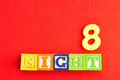 Number 8 Stock Photo - 80900410